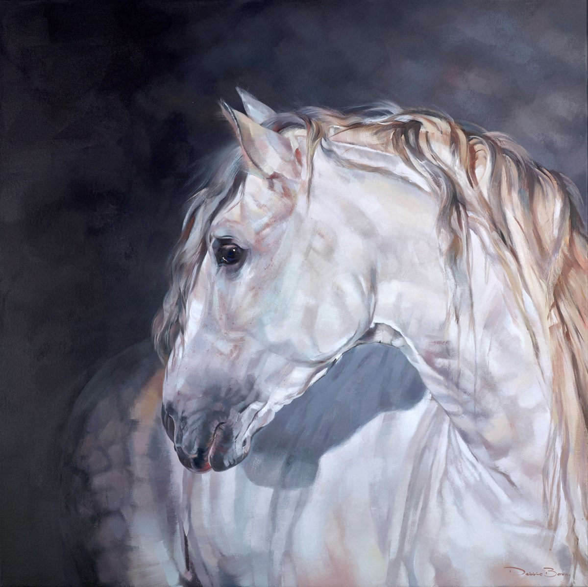 Spanish Grey by debbie boon -  sized 43x43 inches. Available from Whitewall Galleries
